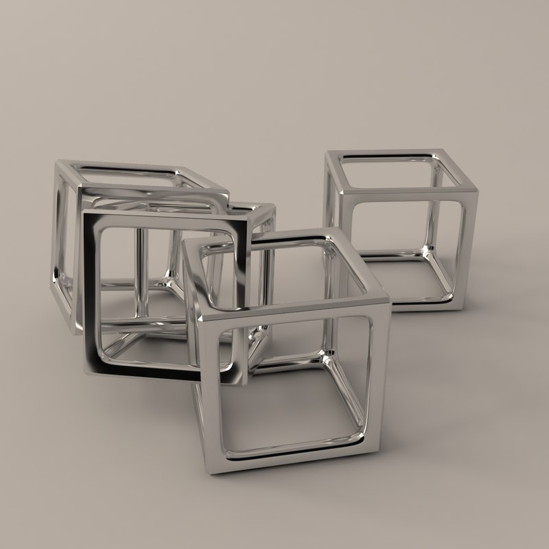 cube office toy 3D model