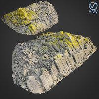 scanned rock cliff r 3D