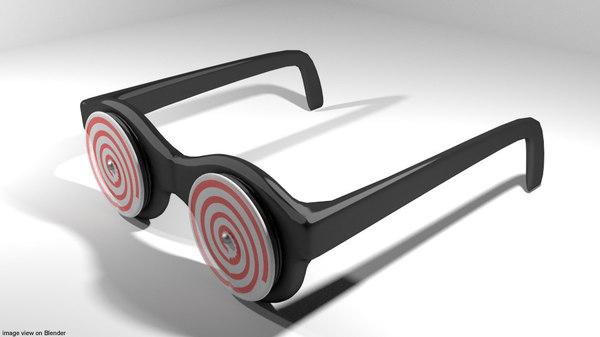 eyeglasses novelty x-ray 3D model