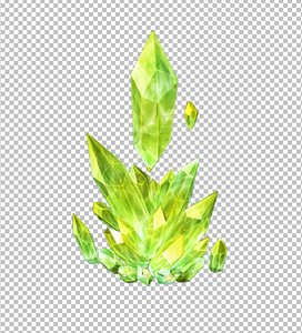 3D crystal mineral gem model