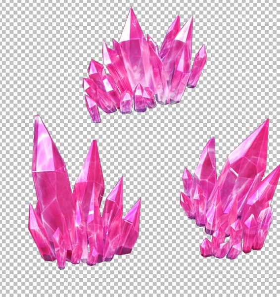 crystal mineral gem model