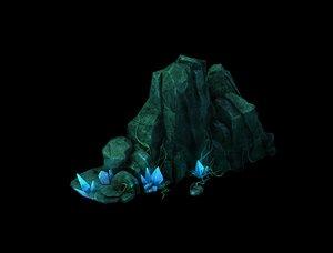3D crystal rock