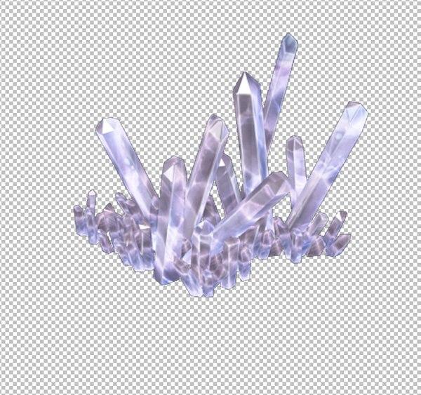 3D crystal mineral gem model
