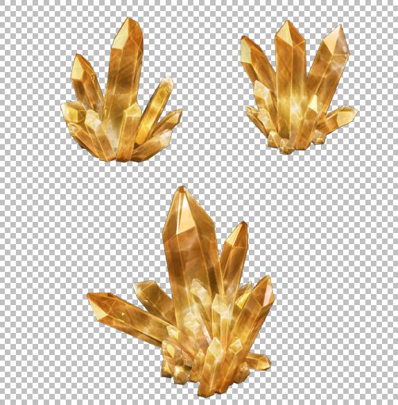 crystal mineral gem 3D
