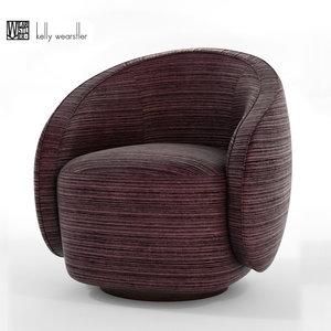 3D kelly wearstler swivel chair