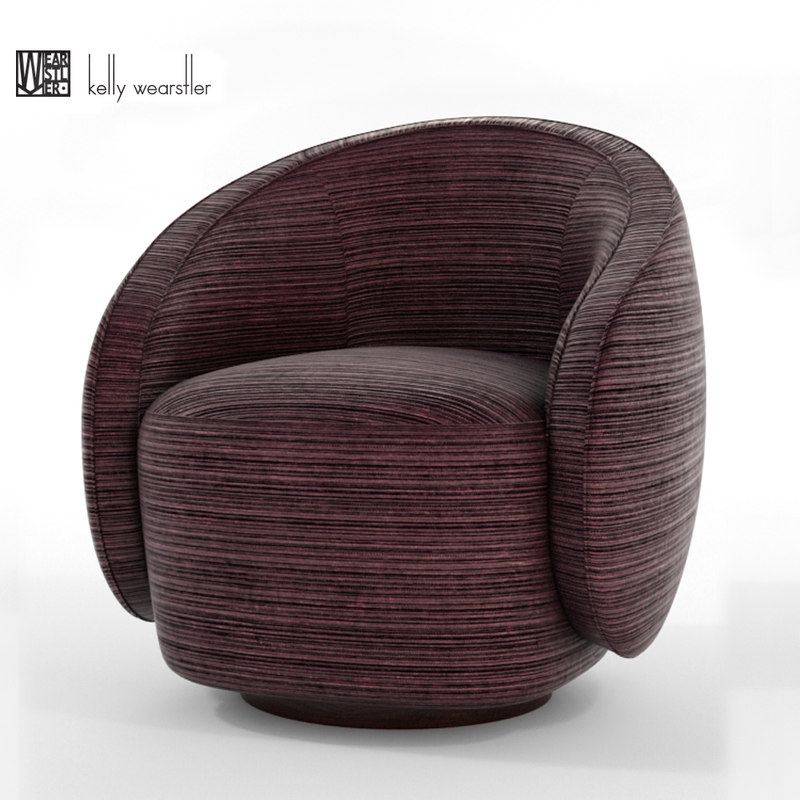3D kelly wearstler swivel chair