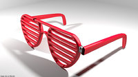 eyeglasses novelty shutter 3D model