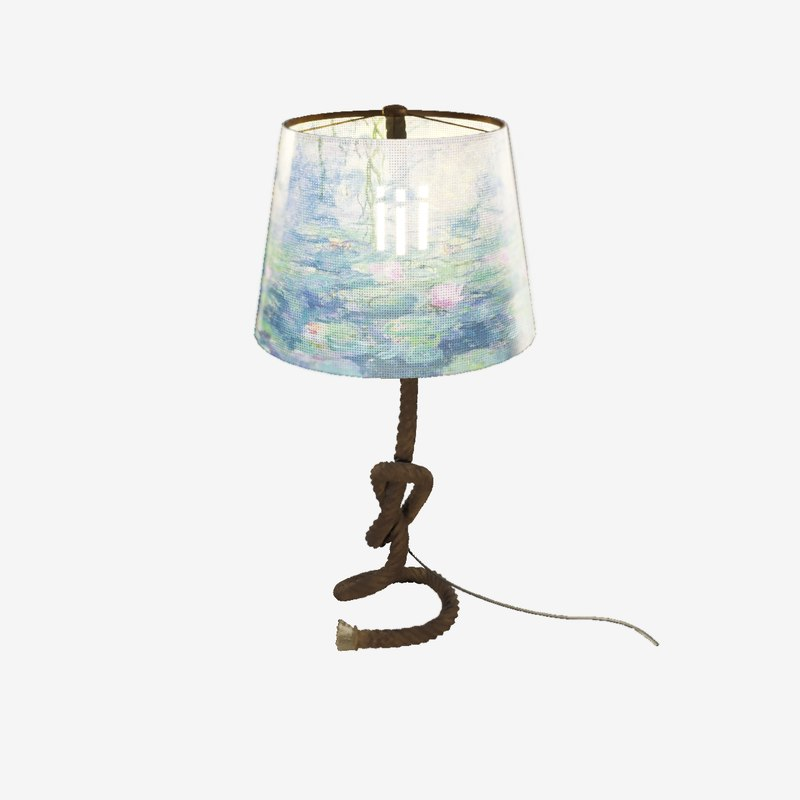 rope table lamp 3D model
