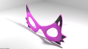 3D cat eye eyeglasses