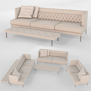 lipp sofa piero lissoni 3D model