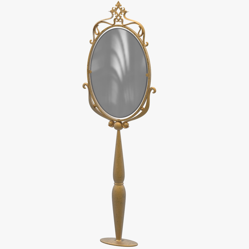 3D model vintage design mirror