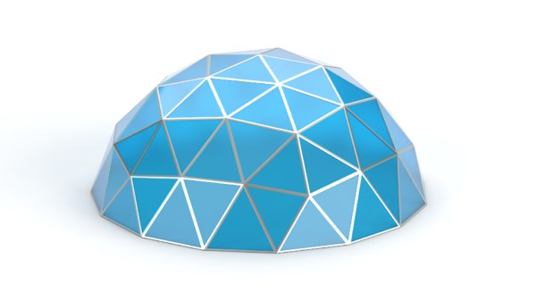 geodesic small dome 3D model