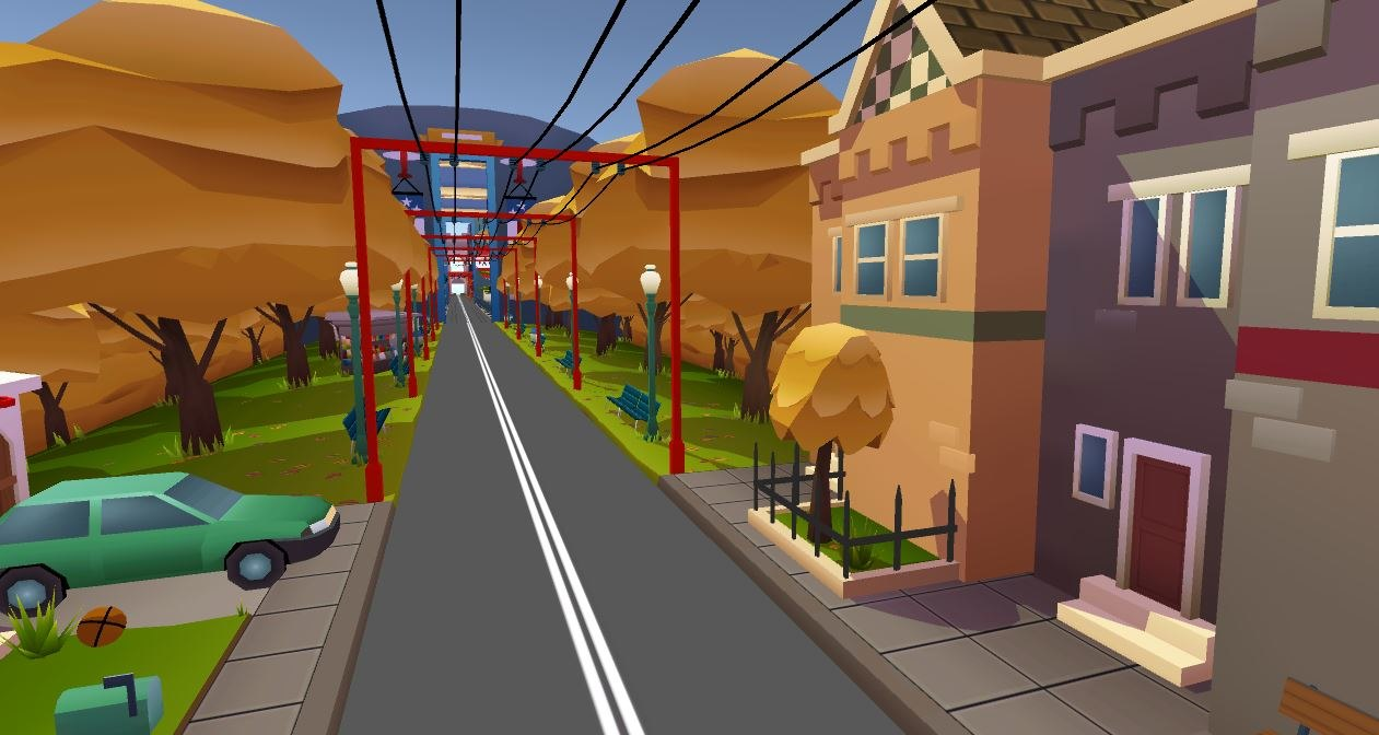 3D model washington road