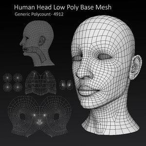 3D head base mesh