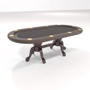 3D elite poker table model