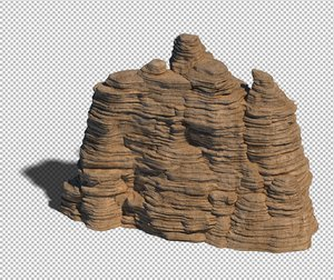 cave rock mountain mount 3D model