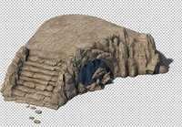 cave rock mountain 3D model
