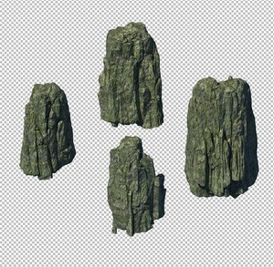 cave rock mountain 3D