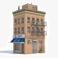 3D ready apartment building model