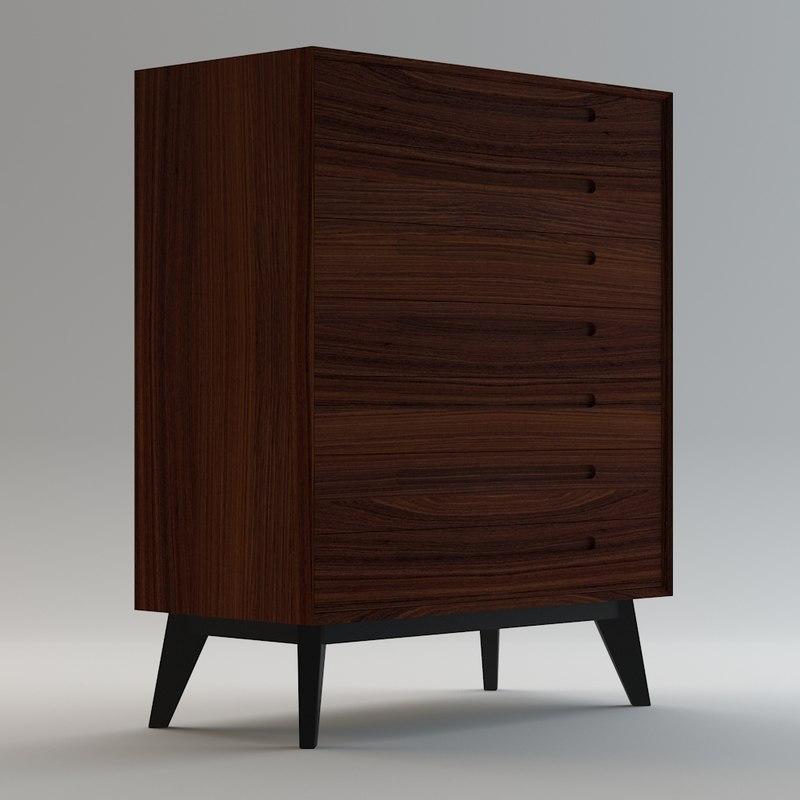 3D century sideboard model