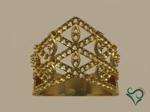3D model golden ring stone print