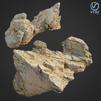 scanned rock cliff s 3D model