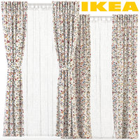 3D ikea curtains rodarv matilda