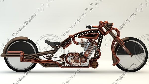 steampunk moto 3D model
