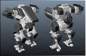 3D model engineer mecha mech