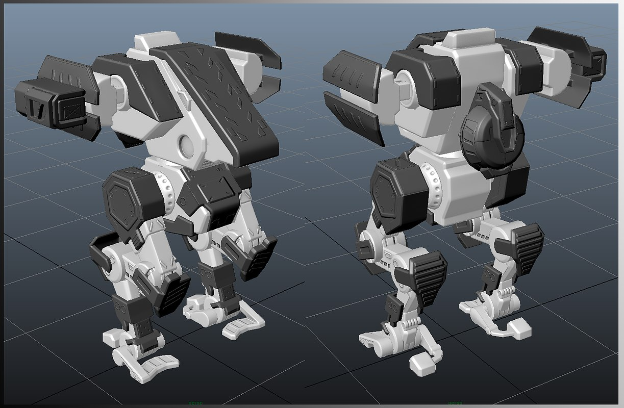 3D model engineer mecha mech