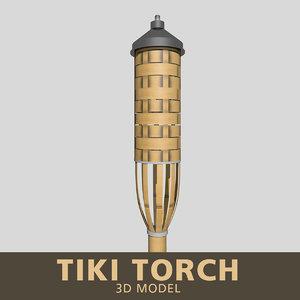 3D model tiki torch