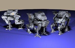 4-legged mech 3D model