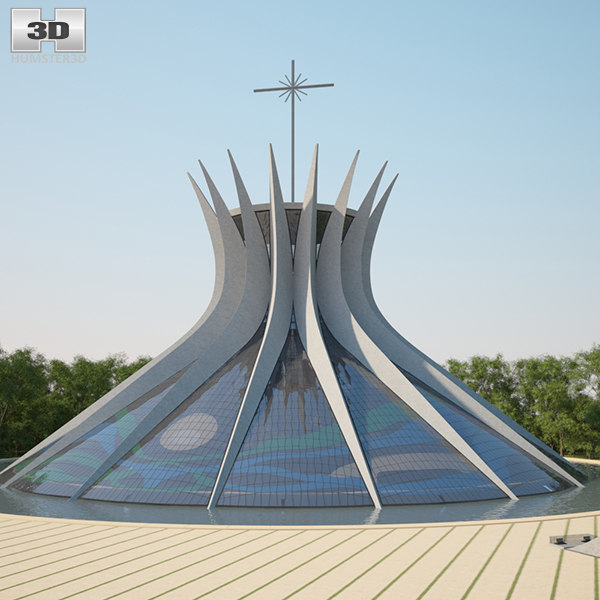 cathedral brasilia 3D