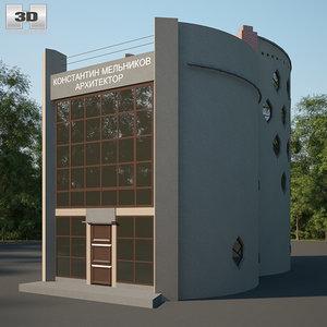 3D melnikov house model