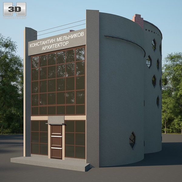 3D melnikov house model