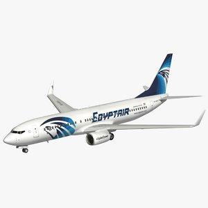 boeing egyptair 3D model
