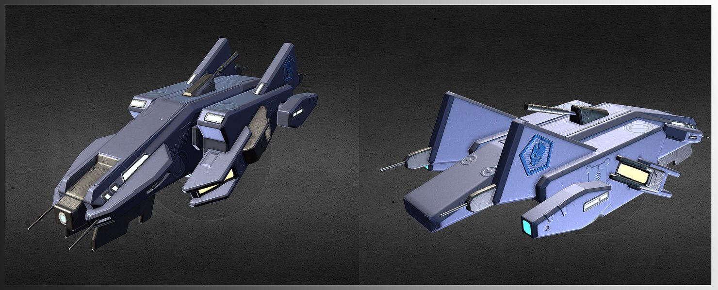 mecha dropship model