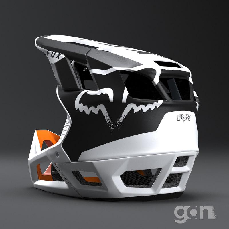 downhill helmet 3D model