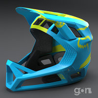 3D downhill helmet fox model
