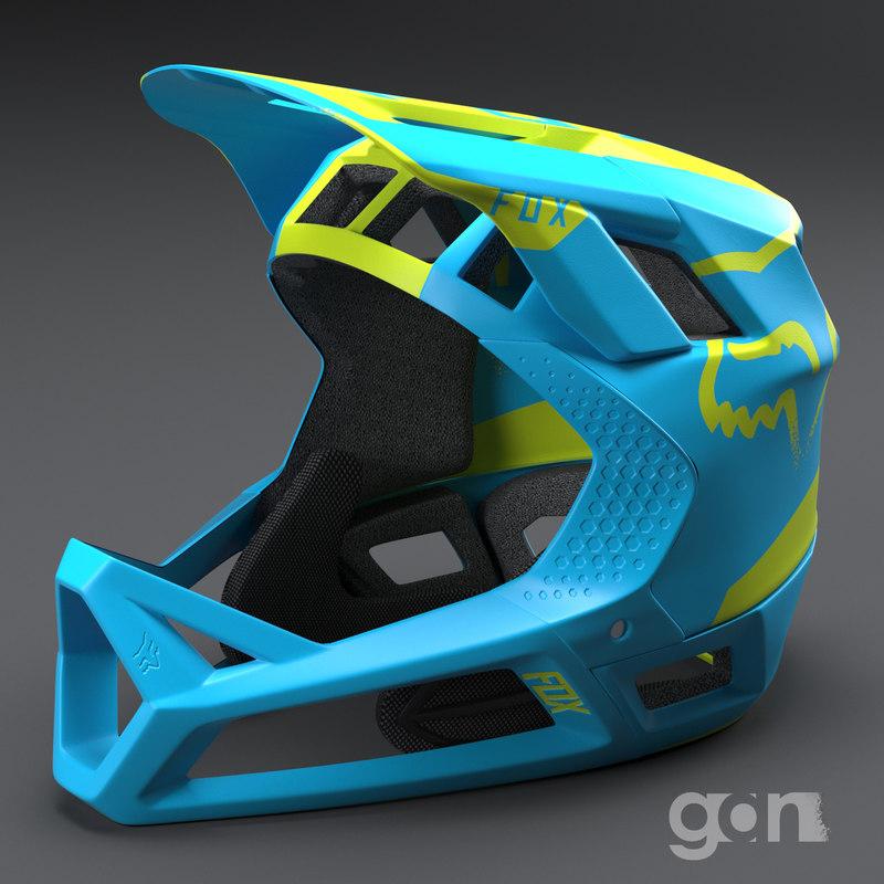 3D downhill helmet fox model