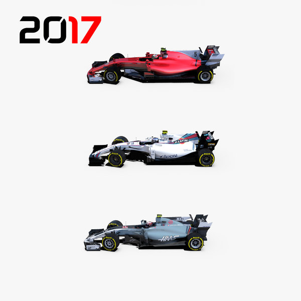 3D model formula 2017 cars 1