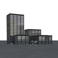3D office building package