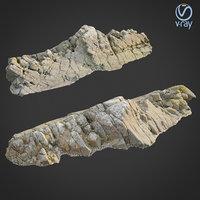 scanned rock cliff t 3D model