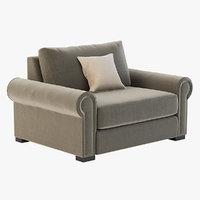 3D realistic sofa photoreal