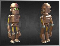 A steampunk robot