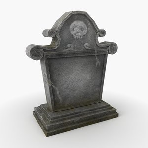 3D model tombstone tomb stone