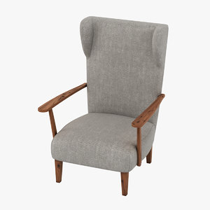 3D armchair realistic
