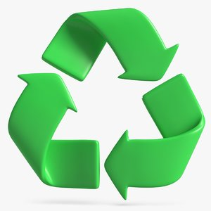 3D recycle logo model