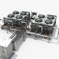 ac industrial units 3D model