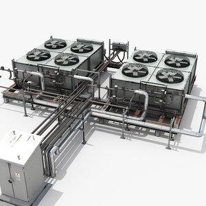 ac industrial units 3D model